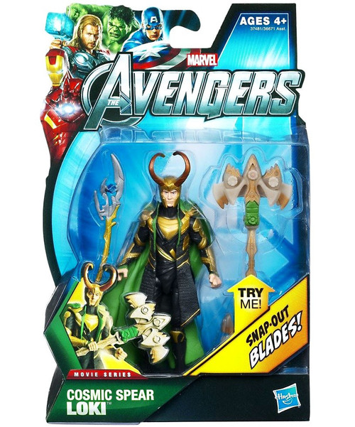 Marvel Avengers Movie Series Cosmic Spear Loki Action Figure