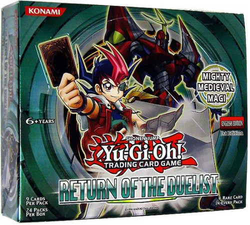 YuGiOh Trading Card Game Return of the Duelist Booster Box [24 Packs]