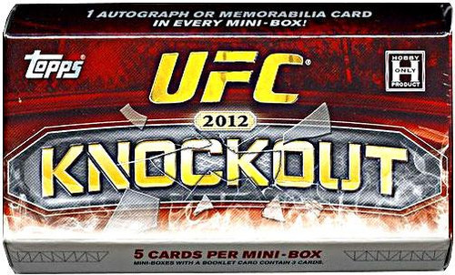 UFC Ultimate Fighting Championship 2012 Knockout Trading Card Pack