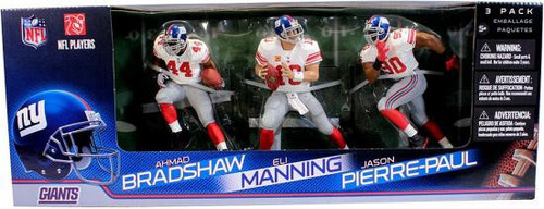McFarlane Toys NFL New York Giants Sports Picks Eli Manning, Jason Pierre-Paul & Ahmad Bradshaw Action Figure 3-Pack [White Jerseys]