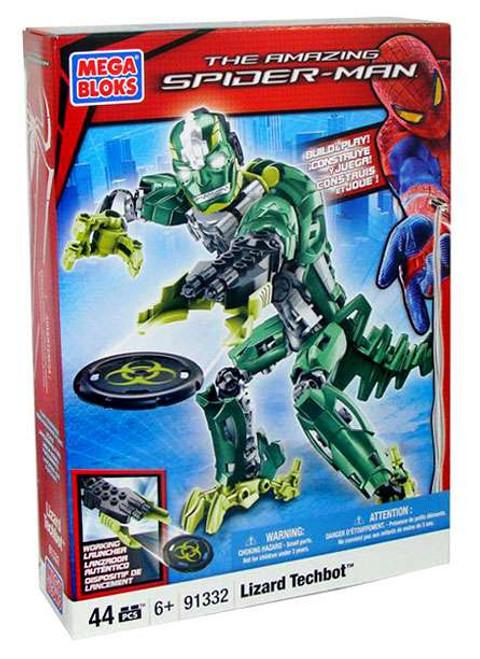 Mega Bloks Amazing Spider-Man Lizard Techbot Set #91332