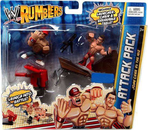 WWE Wrestling Rumblers Series 2 John Cena Vs. The Miz Exclusive Mini Figure 2-Pack
