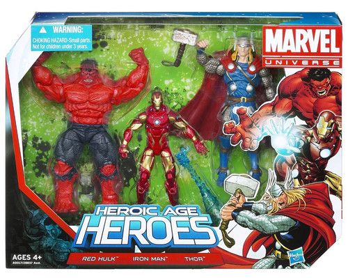 Marvel Universe Super Hero Team Packs Heroic Age Heroes Action Figure 3-Pack