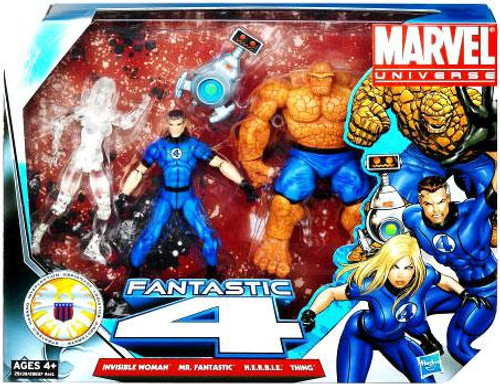 Marvel Universe Super Hero Team Packs Fantastic Four Action Figure 4-Pack [Clear Invisible Woman]