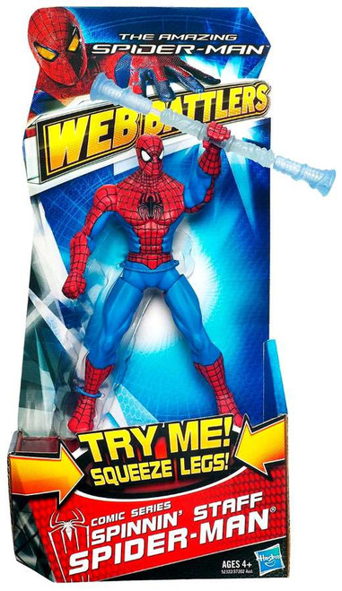 The Amazing Spider-Man Web Battlers Comic Series Spider-Man Action Figure [Spinning Staff]
