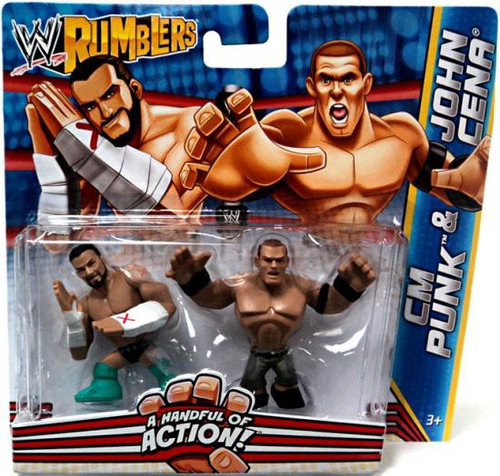 WWE Wrestling Rumblers Series 2 CM Punk & John Cena Mini Figure 2-Pack
