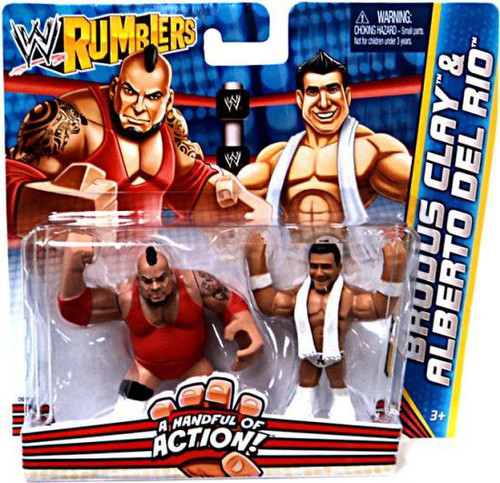 WWE Wrestling Rumblers Series 2 Brodus Clay & Alberto Del Rio Mini Figure 2-Pack
