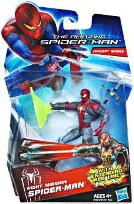 The Amazing Spider-Man Concept Series Night Mission Spider-Man Action Figure
