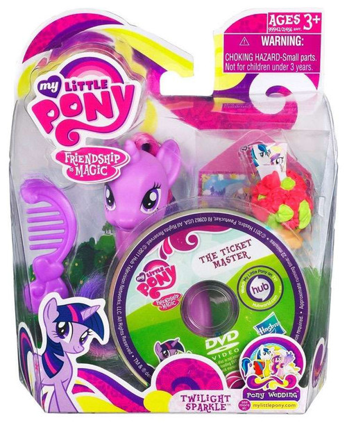 My Little Pony Friendship is Magic Pony Wedding Twilight Sparkle & The Ticket Master DVD Figure Set