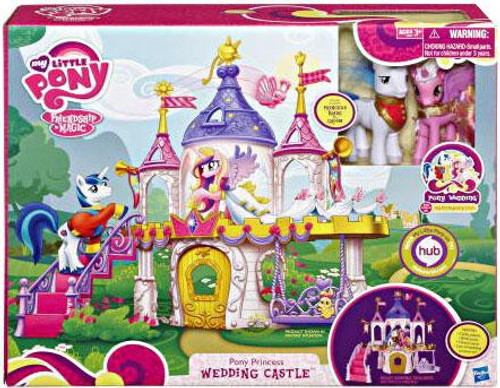My Little Pony Friendship is Magic Pony Wedding Pony Princess Wedding Castle Figure Playset