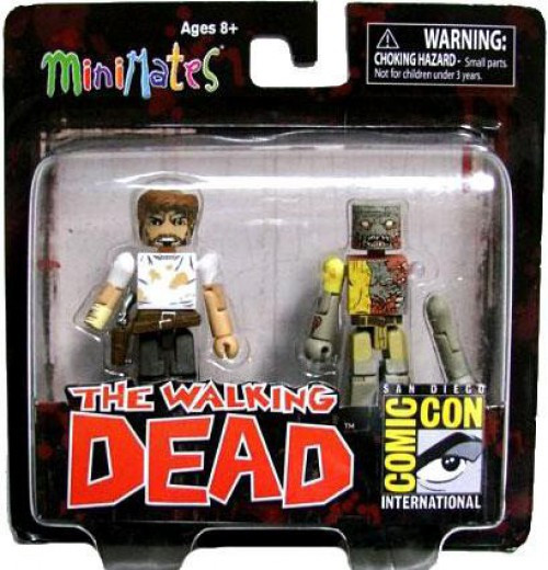 The Walking Dead Minimates Exclusives Rick Grimes & Zombie Exclusive Minifigure 2-Pack
