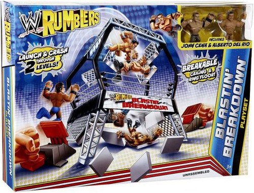 WWE Wrestling Rumblers Series 2 Blastin' Breakdown Mini Figure Playset