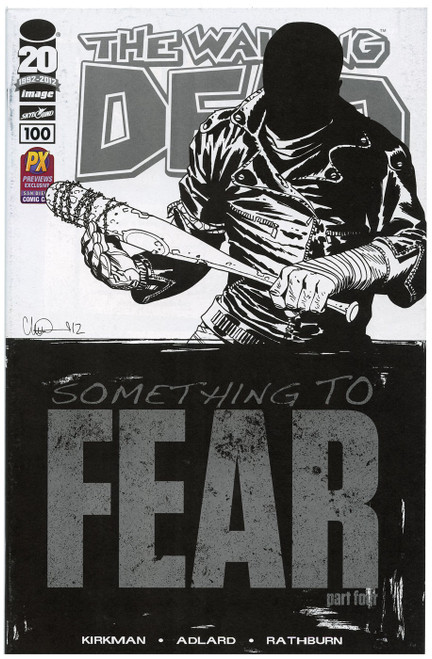 Image Comics The Walking Dead #100 Something to Fear Exclusive Comic Book [SDCC, Ink Transfer on Cover] [Ink Transfer on Cover]
