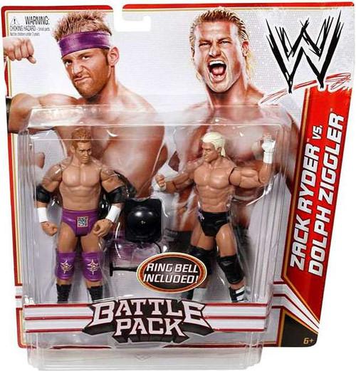 WWE Wrestling Battle Pack Series 18 Zack Ryder vs. Dolph Ziggler Action Figure 2-Pack [Ring Bell]