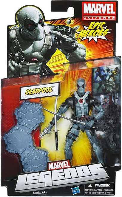 Marvel Legends 2012 Series 3 Epic Heroes Deadpool Action Figure [X-Force Black & Gray Suit]