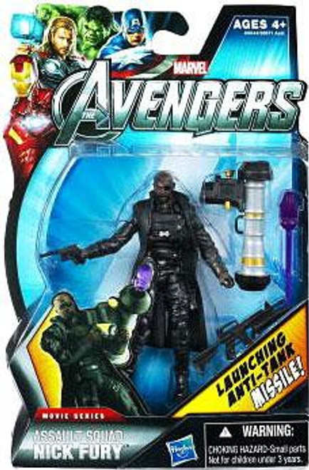 Marvel Avengers Movie Series Assault Squad Nick Fury Action Figure