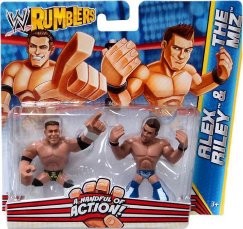 WWE Wrestling Rumblers Series 2 Alex Riley & The Miz Mini Figure 2-Pack