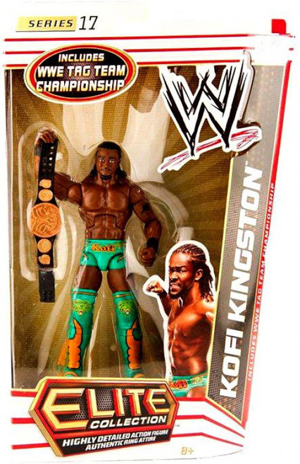 WWE Wrestling Elite Collection Series 17 Kofi Kingston Action Figure [WWE Tag Team Championship Belt]