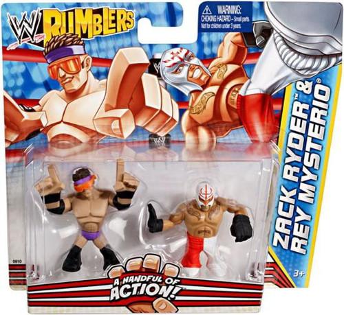 WWE Wrestling Rumblers Series 2 Zack Ryder & Rey Mysterio Mini Figure 2-Pack