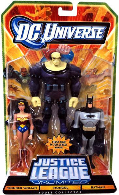 DC Universe Justice League Unlimited Wonder Woman, Mongul & Batman Exclusive Action Figure