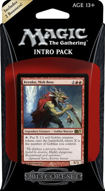 MtG Trading Card Game 2013 Core Set Mob Rule Intro Pack