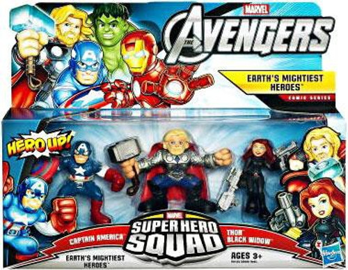 Marvel Avengers Super Hero Squad Earth's Mightiest Heroes Figure 3-Pack