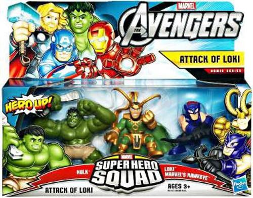 Marvel Avengers Super Hero Squad Attack of Loki Figure 3-Pack