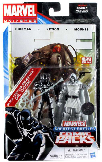 Marvel Universe Black Costume Spider-Man & Dr. Doom Exclusive Action Figure 2-Pack