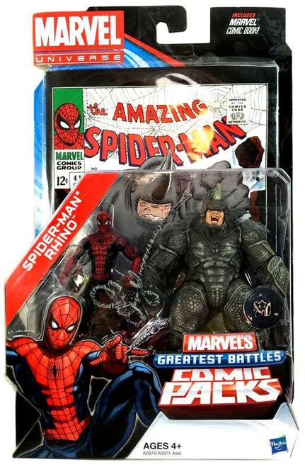 Marvel Universe Spider-Man & Rhino Exclusive Action Figure 2-Pack