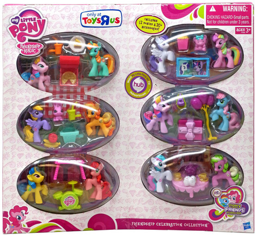 My Little Pony Friendship is Magic Pony Friends Forever Friendship Celebration Collection Exclusive Figure Set