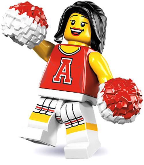 LEGO Minifigures Series 8 Red Cheerleader Minifigure [Loose]