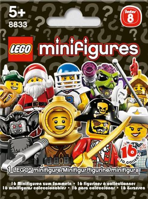 LEGO Minifigures Series 8 Mystery Pack [1 RANDOM Figure]