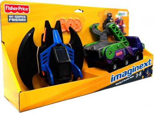 Fisher Price DC Super Friends Imaginext Batwing & Joker Hauler Exclusive 3-Inch Figure Set