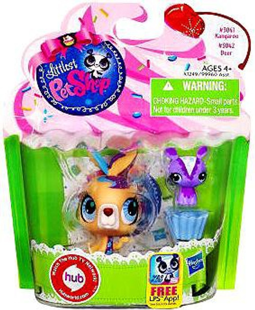 Littlest Pet Shop Kangaroo & Deer Friend Figure 2-Pack
