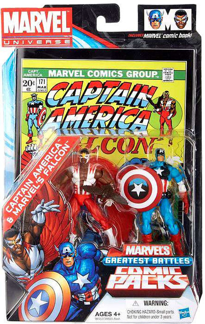 Marvel Universe Captain America & Falcon Exclusive Action Figure 2-Pack