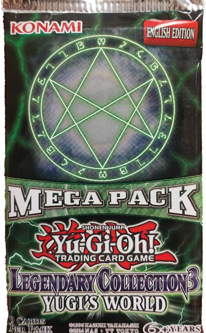 YuGiOh Trading Card Game Legendary Collection 3 Yugi's World Booster MEGA Pack [9 Cards]