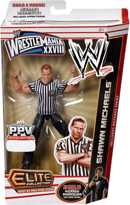 WWE Wrestling Elite Collection WrestleMania 28 Shawn Michaels Exclusive Action Figure [Referee Shirt]