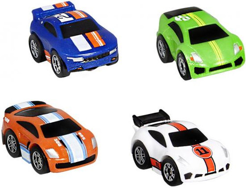 Nano Speed Nano Super Car Micro Car 4-Pack [RANDOM Cars]