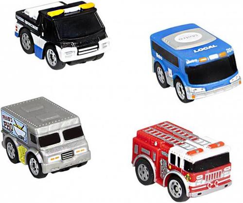 Nano Speed Nano Utility Micro Car 4-Pack [RANDOM Cars]