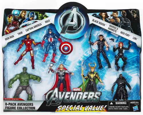 Marvel Avengers Collection Exclusive Action Figure 8-Pack [Iron Man, Thor, Captain America, Hulk, Black Widow, Hawkeye, Nick Fury & Loki]