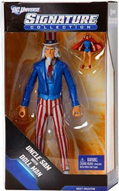 DC Universe Club Infinite Earths Signature Collection Uncle Sam with Doll Man Exclusive Action Figure