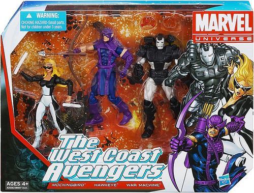 Marvel Universe Super Hero Team Packs The West Coast Avengers Action Figure 3-Pack