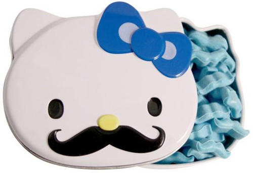 Hello Kitty Sweet Staches Candy Tin [Blue Bow]