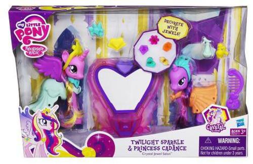 My Little Pony Friendship is Magic Crystal Empire Twilight Sparkle & Princess Cadance Crystal Jewel Salon Figure Set
