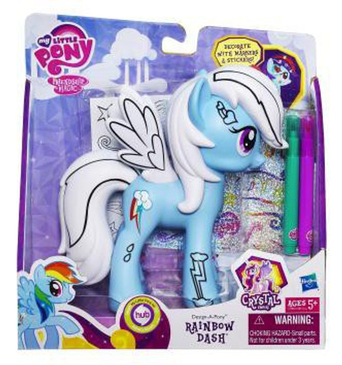 My Little Pony Friendship is Magic Crystal Empire Fashion Style Rainbow Dash Figure
