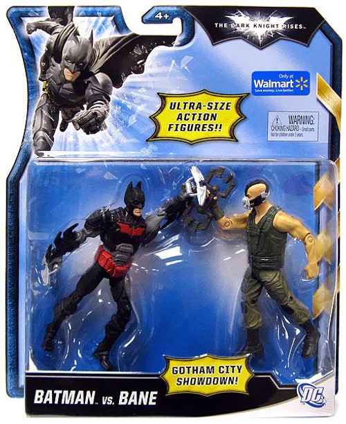 The Dark Knight Rises Gotham City Showdown Batman vs. Bane Exclusive Action Figure 2-Pack [Red & Black vs. Green]