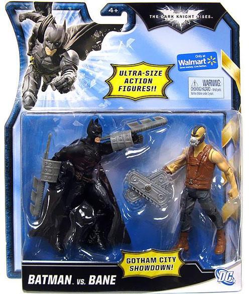 The Dark Knight Rises Gotham City Showdown Batman vs. Bane Exclusive Action Figure 2-Pack [Bladed vs. Brown Vest]