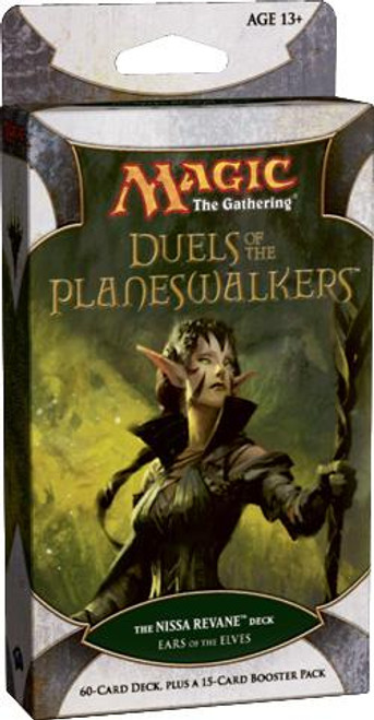 MtG Trading Card Game Duels of the Planeswalkers Nissa Revane Ears of the Elves Intro Pack