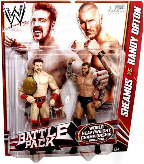 WWE Wrestling Battle Pack Series 21 Sheamus vs. Randy Orton Action Figure 2-Pack [World Heavyweight Chamoionship]