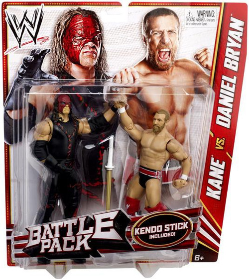 WWE Wrestling Battle Pack Series 21 Kane vs. Daniel Bryan Action Figure 2-Pack [Kendo Stick]